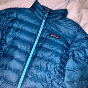Patagonia Blue Down Women's Sweater Jacket